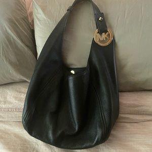 Michael Kors Pebbled Leather Hobo Handbag